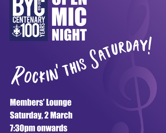 Open Mic Night – 2nd March