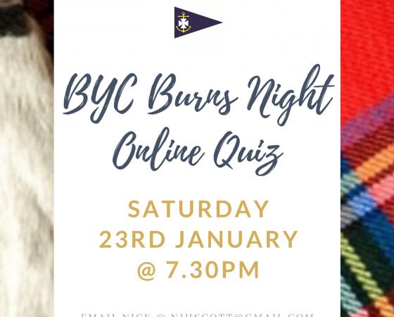 Burns Night Quiz  – Saturday 23rd January @ 7.30pm