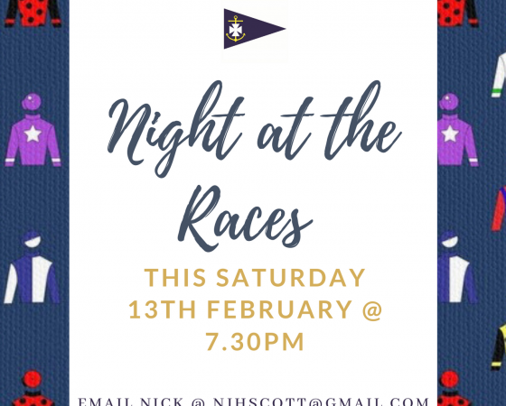 Online Night at the Races – Saturday 13th February @ 7.30pm