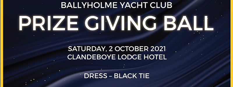 Prize Giving Ball Saturday 2nd October 2021