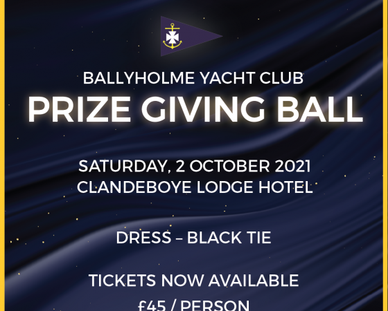 Prize Giving Ball 2nd October 2021
